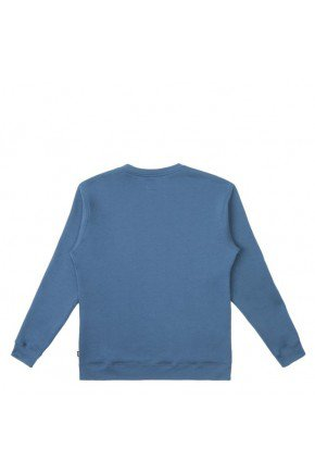 moletom careca vans basic crew fleece azul moroccan hyped 91 2