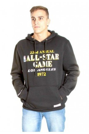 moletom mitchell ness nba lakers all star game west preto hyped 91