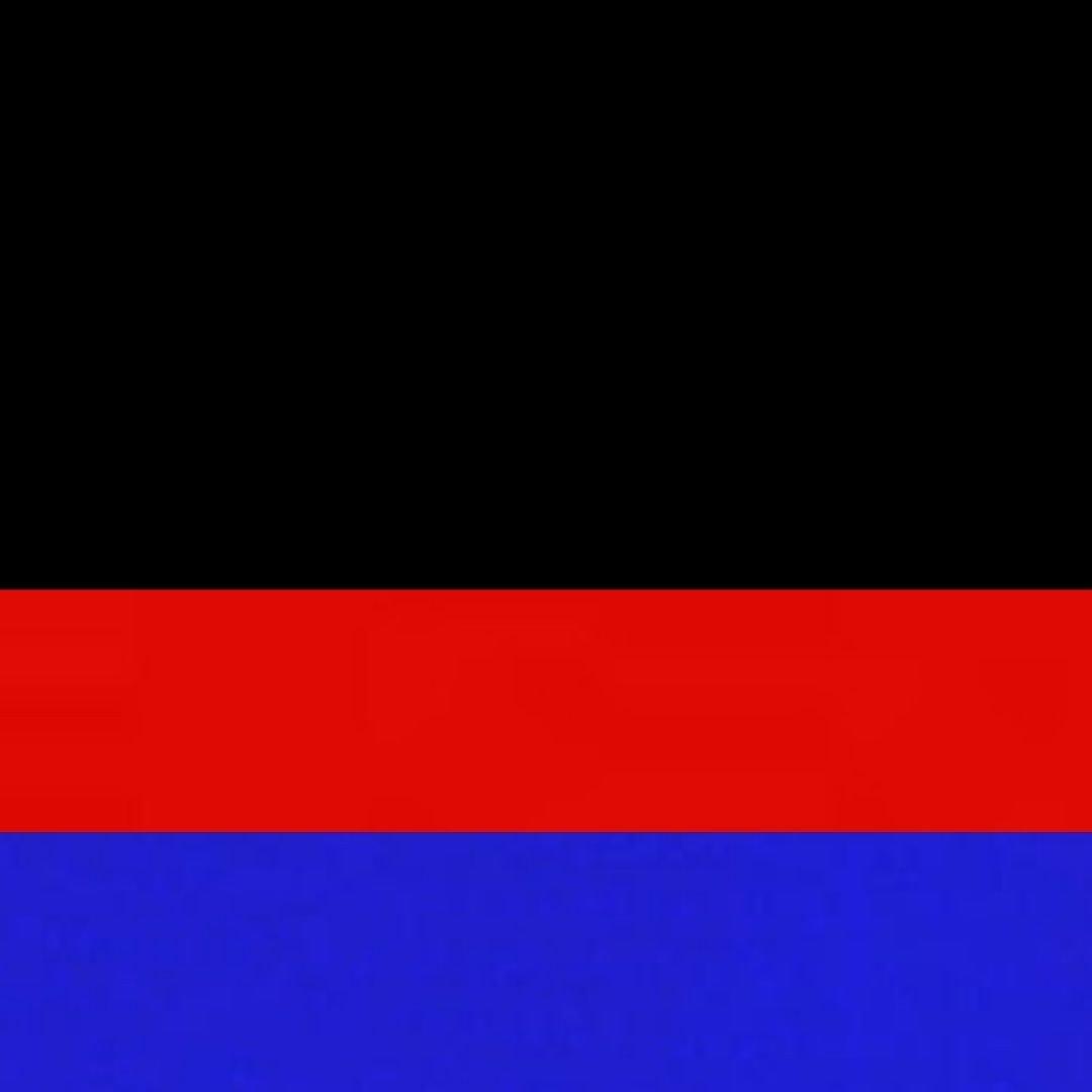 Preto/Azul/Vermelho