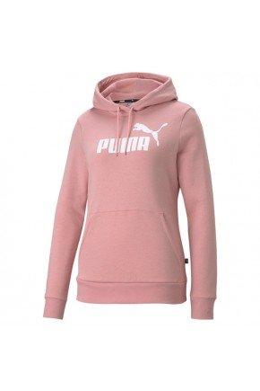 moletom feminino puma essentials logo hoodie rosa claro hyped 91