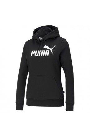 moletom feminino puma essentials logo hoodie preto hyped 91