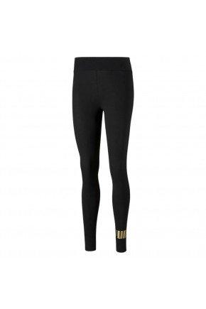 calca puma leggings essentials metallic preta hyped 91