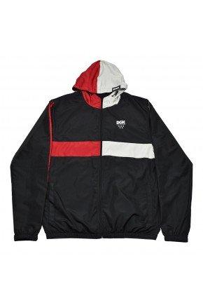 jaqueta corta vento dgk crossover preto vermelho cinza hyped 91