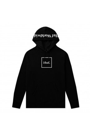 moletom huf canguru essentials box logo preto hyped 91