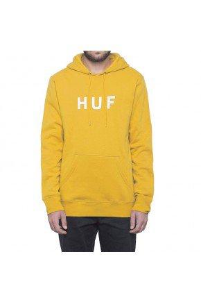 Moletom HUF Canguru Essentials Logo Amarelo   hyped 91