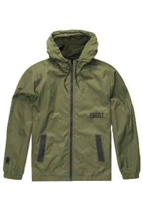 Jaqueta Corta Vento Grizzly Military Forest Green  hyped 91  3