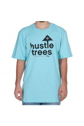 camiseta lrg hustle trees azul claro hyped 91