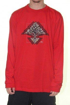 camiseta lrg manga longa motherland vermelho hyped 91