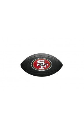 bola de futebol americano san francisco 49ers wilson preto hyped 91