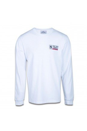 camiseta new era manga longa new york yankees college branco hyped 91