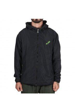 jaqueta corta vento lrg slant masculino preto verde hyped 91