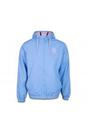 jaqueta corta vento new era new york yankees sazonal squad azul claro rosa hyped 91