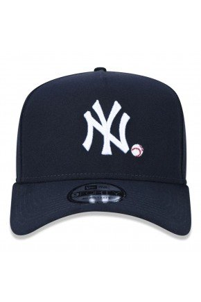 Bon New Era MBL New York Yankees Aba Curva   Azul Marinho   hyped 91  2