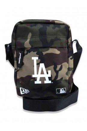 shoulder bag new era transversal mlb los angeles dodgers camuflado hyped 91