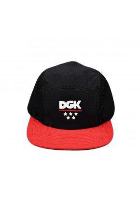 bone dgk 5 panel court camper hat preto vermelho hyped 91
