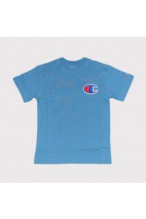 Camiseta Champion Life Patch C Masculina azul bondi   hyped 91