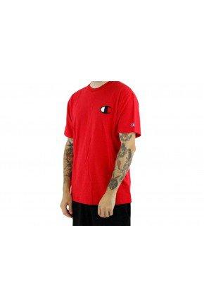 Camiseta Champion C Logo Masculina   Vermelho   hyped 91