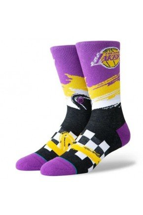 Meia Stance NBA Los Angeles Lakers Wave Racer   Roxo Amarelo   hyped 91
