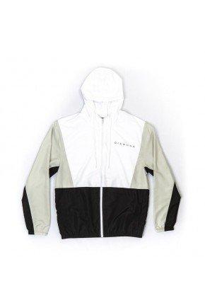 jaqueta corta vento diamond triple color branco cinza preto hyped 91