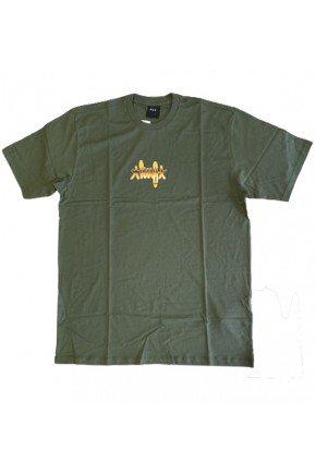Camiseta HUF Landmark masculina verde escuro  hyped 91