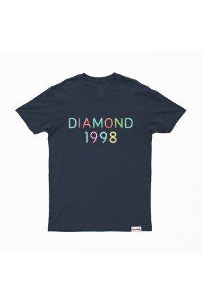 Camiseta Diamond Radiant Neon Tee azul marinho   hyped 91