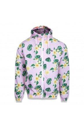 jaqueta corta vento new era girls floral rosa floral hyped 91
