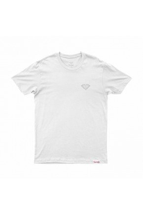 camiseta diamond brilliant branco hyped 91