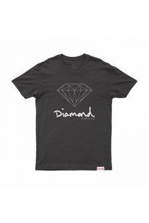 Camiseta Diamond OG Sign Tee   Preto Branco   hyped 91