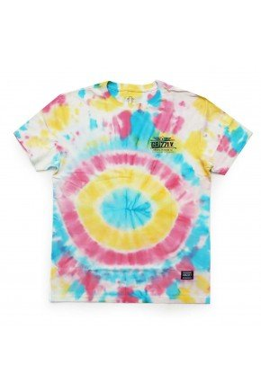 camiseta grizzly outdoor equip tie dye hyped 91
