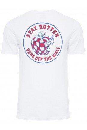 Camiseta Vans Stay Rotten SS Masculina   Branco   vermelho   hyped 91  2