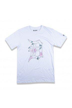 camiseta new era feminina mlb detroit tigers branco hyped 91