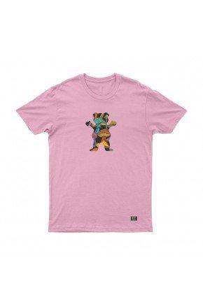camiseta grizzly fungi og bear tee feminina rosa hyped 91