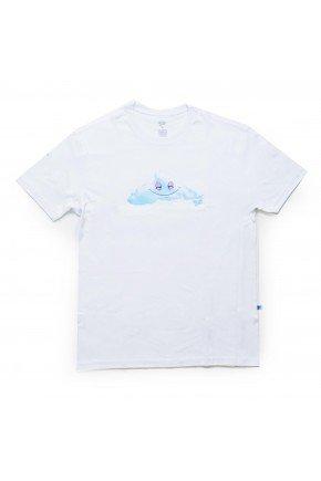 Camiseta Thank You Head InThe Cloud Feminina   Branco Azul   hyped 91