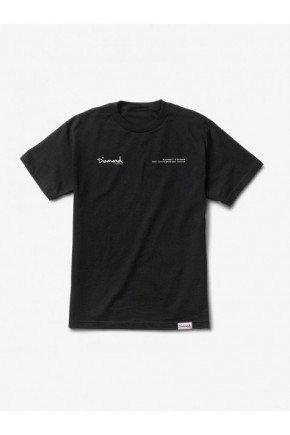 camiseta diamond blueprint feminina preta hyped 91