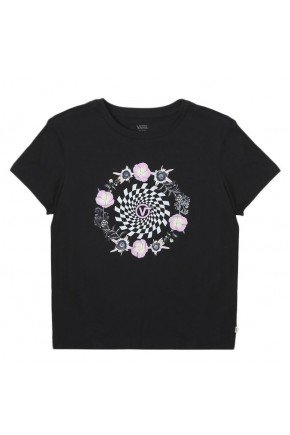 camiseta vans feminina circle daze crew preto hyped 91