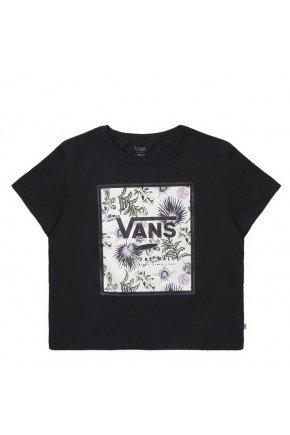 camiseta vans feminina boxed floral preto hyped 91