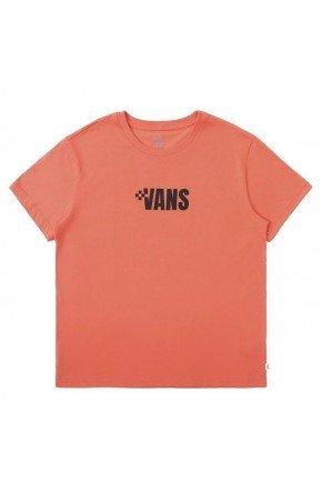 camiseta vans feminina brand brand hot coral hyped 91