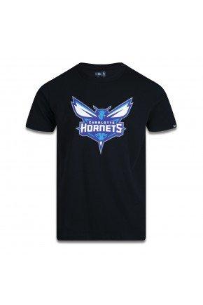 camiseta new era charlotte hornets nba basic logo preto hyped 91
