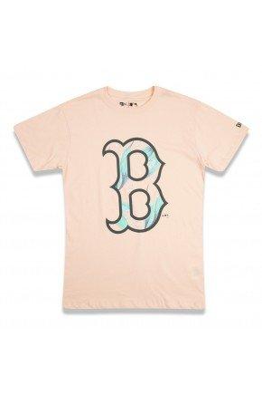camiseta new era feminina mlb boston red sox laranja hyped 91