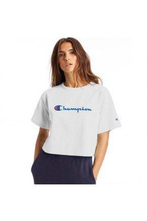 camiseta cropped champion heritage feminina branco hyped 91