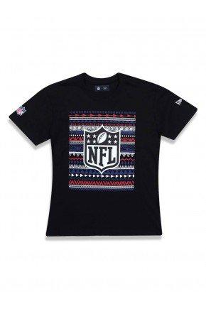camiseta juvenil new era nfl logo preto hyped 91