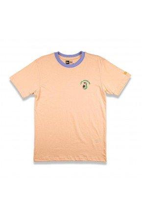 camiseta feminina new era fuit avocado los angeles laranja