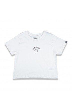 camiseta cropped new era fruit new york off white hyped 91