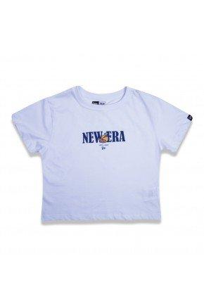 camiseta cropped feminino new era fruit branco hyped 91