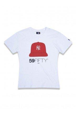 camiseta juvenil new era cap new york yankees mlb branco hyped 91