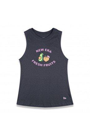 regata feminina new era fruit fresh market cinza escuro hyped 91