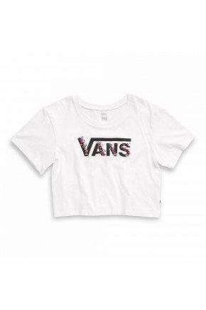 camiseta vans feminina bundlez boxy tee branco floral hyped 91