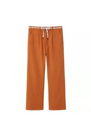 calca chino vans feminina shoe lace pant laranja hyped 91