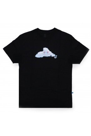 camiseta thank you you head in the cloud masculina preto hyped 91