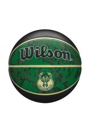 bola de basquete wilson milwaukee bucks nba team preto verde hyped 91